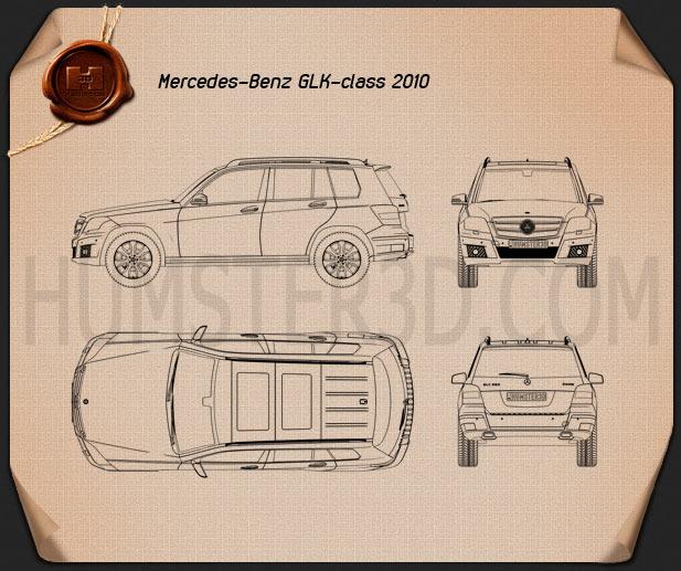 Mercedes-Benz GLK-Class 2010 Blueprint