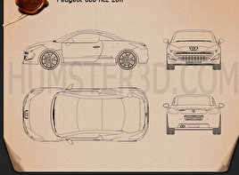 Peugeot 308 RCZ 2011 Blueprint