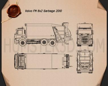 Volvo Truck 6×2 Garbage 2010 Blueprint