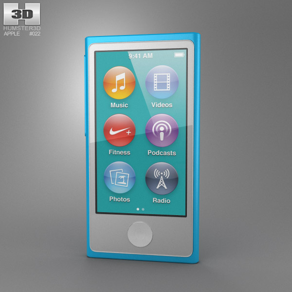 Apple iPod nano 5th generation 3D model