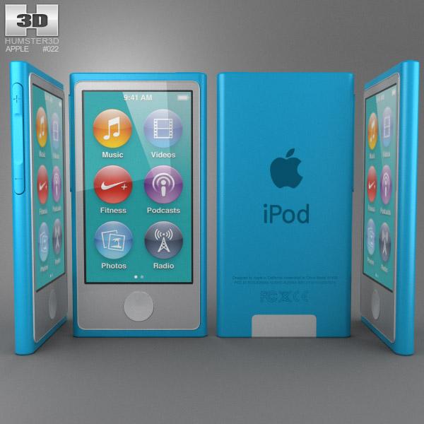Apple iPod nano 5th generation 3d model