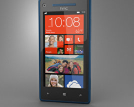 3D model of HTC 8X California Blue