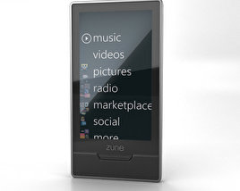3D model of Microsoft Zune HD 16 Gb
