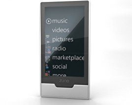 3D model of Microsoft Zune HD 32 GB