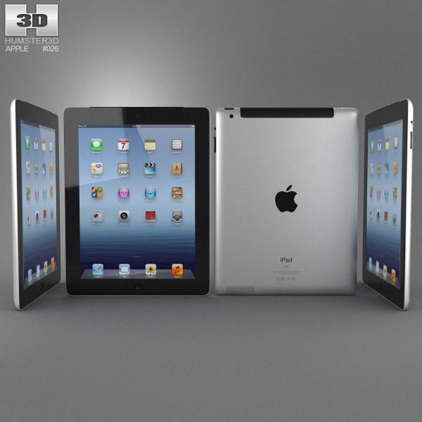 Apple iPad 4 Cellular 3d model