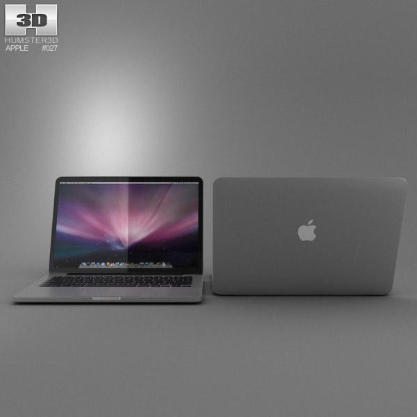 MacBook Pro Retina display 13 inch 3d model