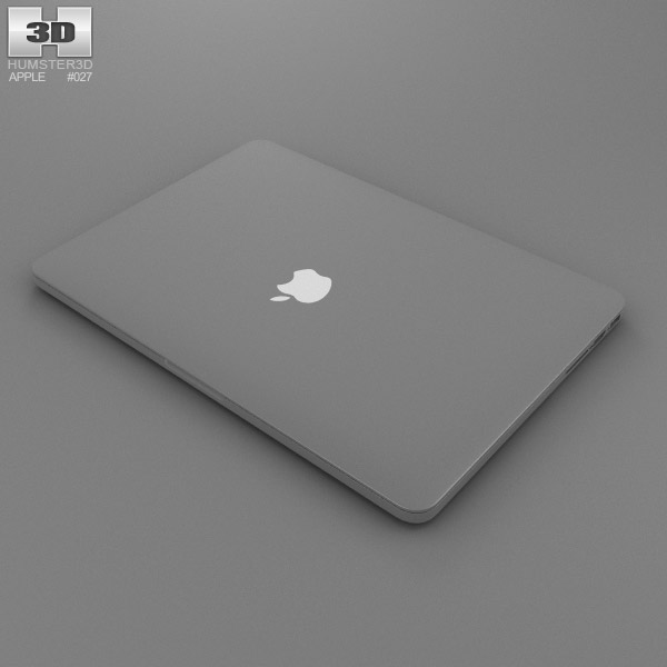 MacBook Pro Retina display 13 inch 3D model - Electronics ...