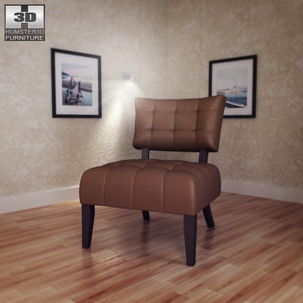 Beige Microfiber Chair - Allen Park 3d model