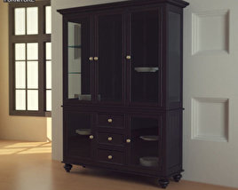 3D model of Black Camden China Cabinet - Lea American Drew