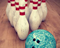 Bowling Pins and Ball Set 3d model
