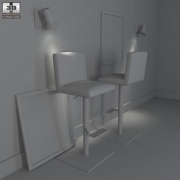 Georgio Bar Stool - Bellini Modern Living 3d model