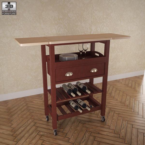 """3D model of Julia """"Espresso"""" Kitchen Cart"""