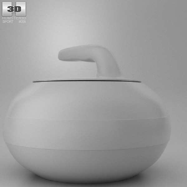 Curling Stone 3d model