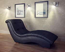 3D model of Metro Chaise Lounge - Diamond Sofa