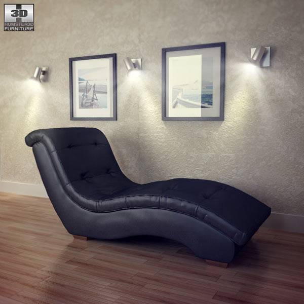 Metro Chaise Lounge - Diamond Sofa 3D model