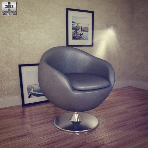 Occasional Chair - Bounce Armchair 3D model