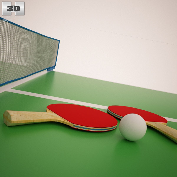 3D model of Ping Pong Paddle