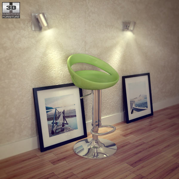 Zuo Tickle Barstool 3D model