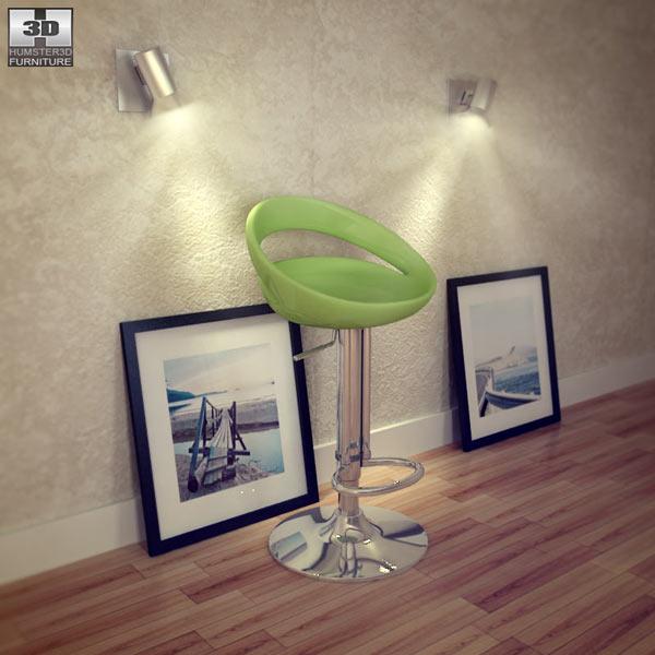 Zuo Tickle Bar stool 3D model