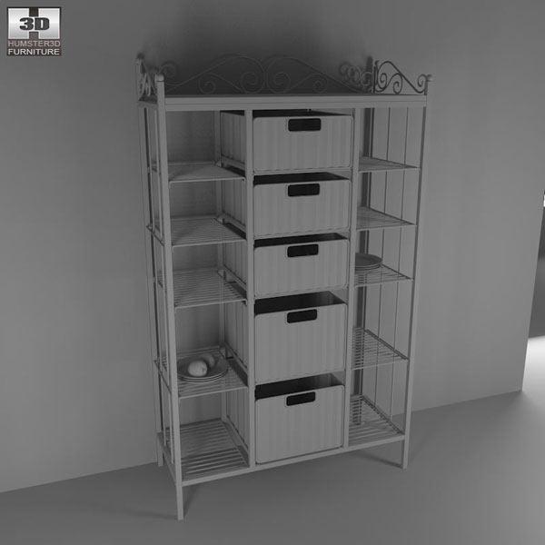 Manilla Kitchen Storage Rack 3d model
