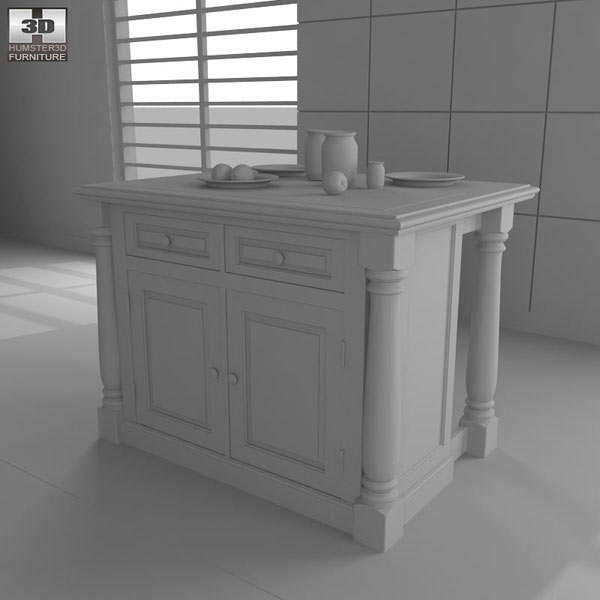 Monarch Kitchen Island 3d model