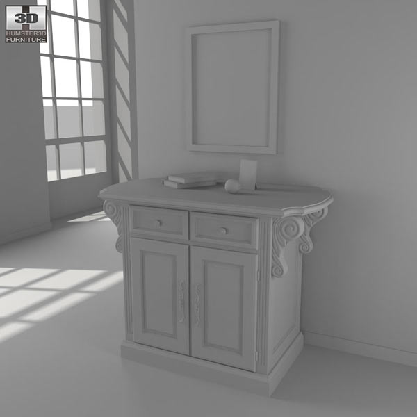 Traditions Kitchen Island 3d model