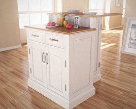 Woodbridge Two Tier Kitchen Island 3D model