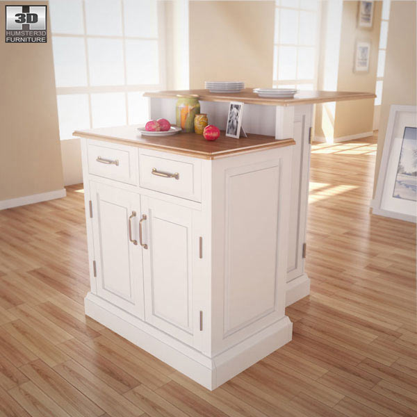 3D model of Woodbridge Two Tier Kitchen Island