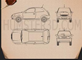 Chevrolet Celta 3-door hatchback 2011 Blueprint