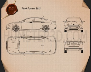 Ford Fusion (Mondeo) 2013 Blueprint