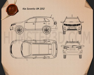 Kia Sorento XM 2012 Blueprint