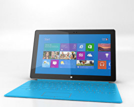 3D model of Microsoft Surface with Touch Cover