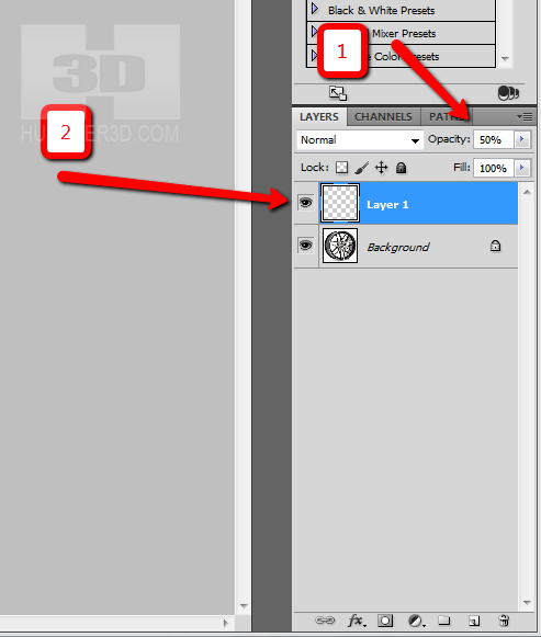 photoshop humster3d step 2