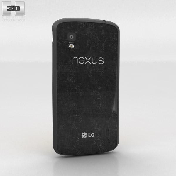 Google Nexus 4 Black 3d model