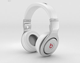 3D model of Beats by Dr. Dre Pro White