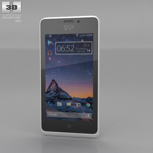 3D model of GeeksPhone Peak