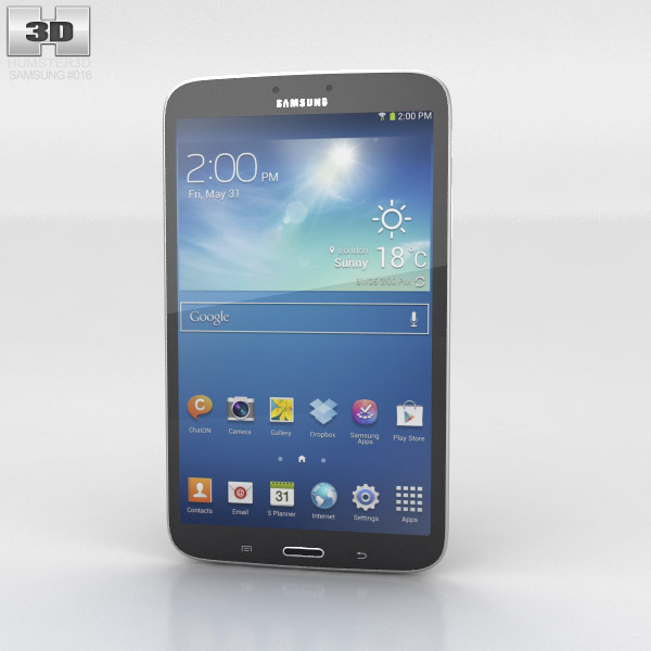 Samsung Galaxy Tab 3 8-inch Black 3d model