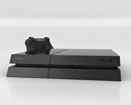 3D model of Sony PlayStation 4