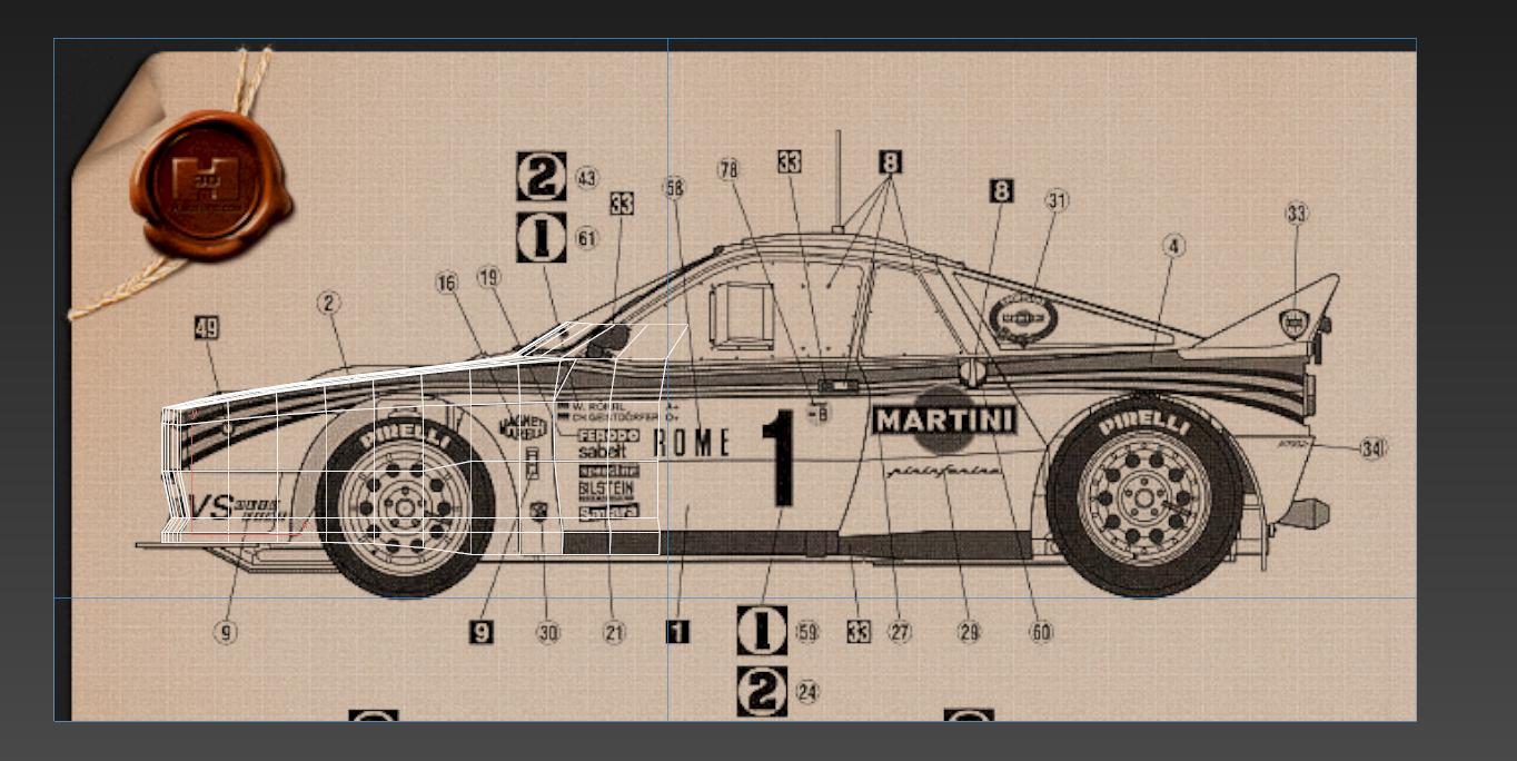 Lancia Rally Car 3d modeling tutorial 1