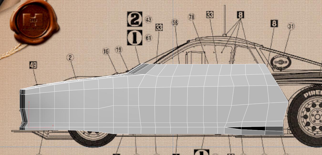 Lancia Rally Car 3d modeling tutorial 24