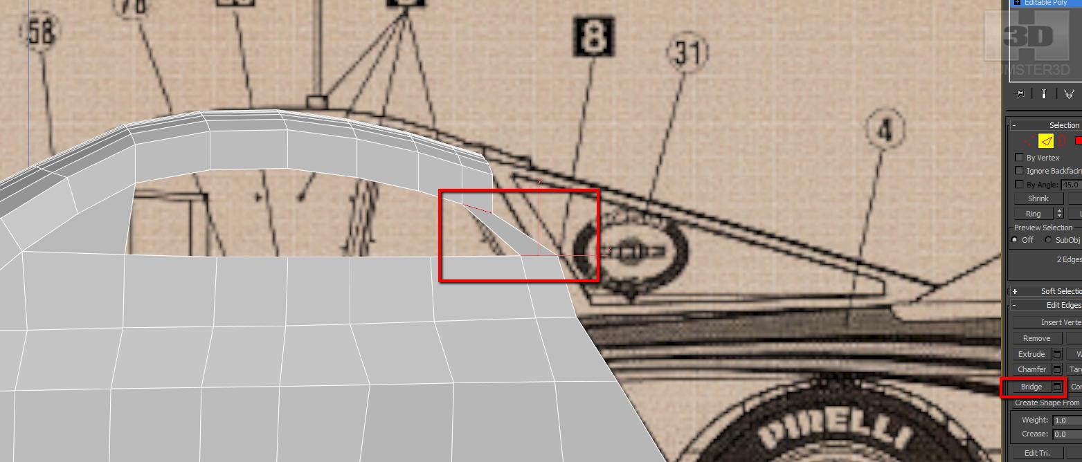 Lancia Rally Car 3d modeling tutorial 35