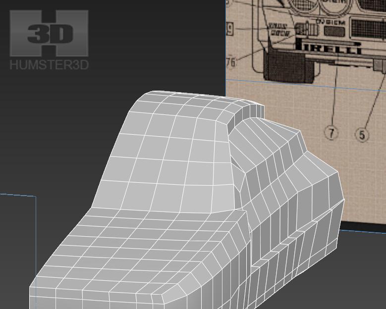 Lancia Rally Car 3d modeling tutorial 39