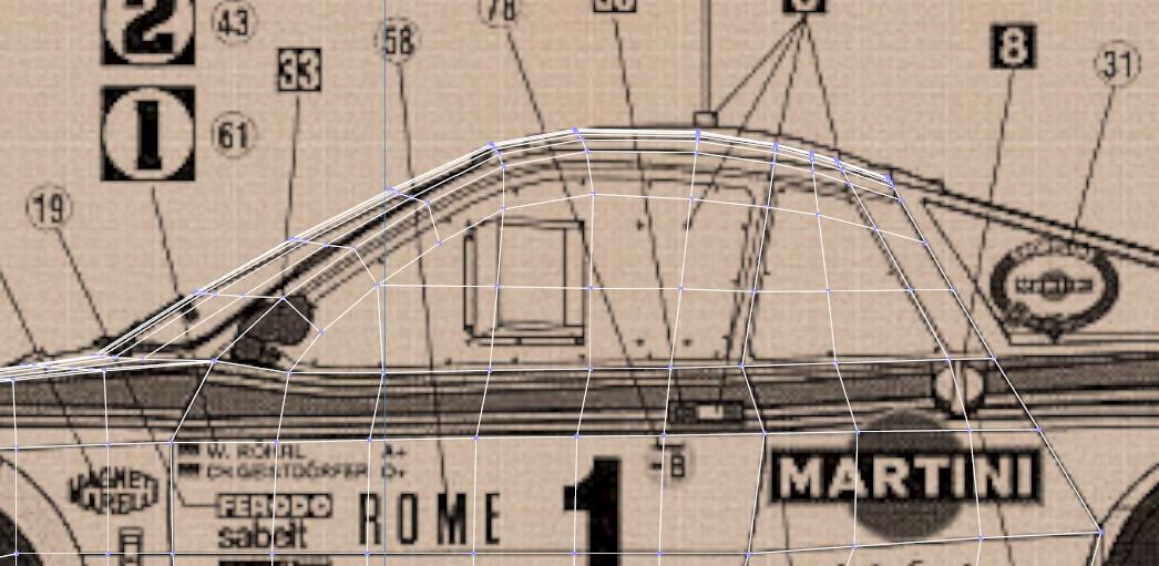 Lancia Rally Car 3d modeling tutorial 41