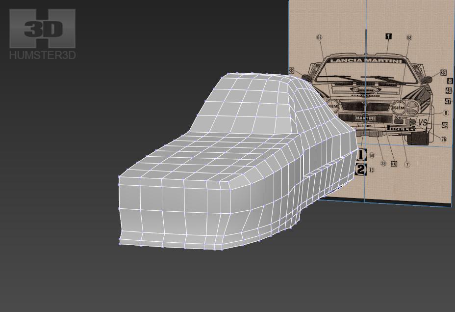 Lancia Rally Car 3d modeling tutorial 42
