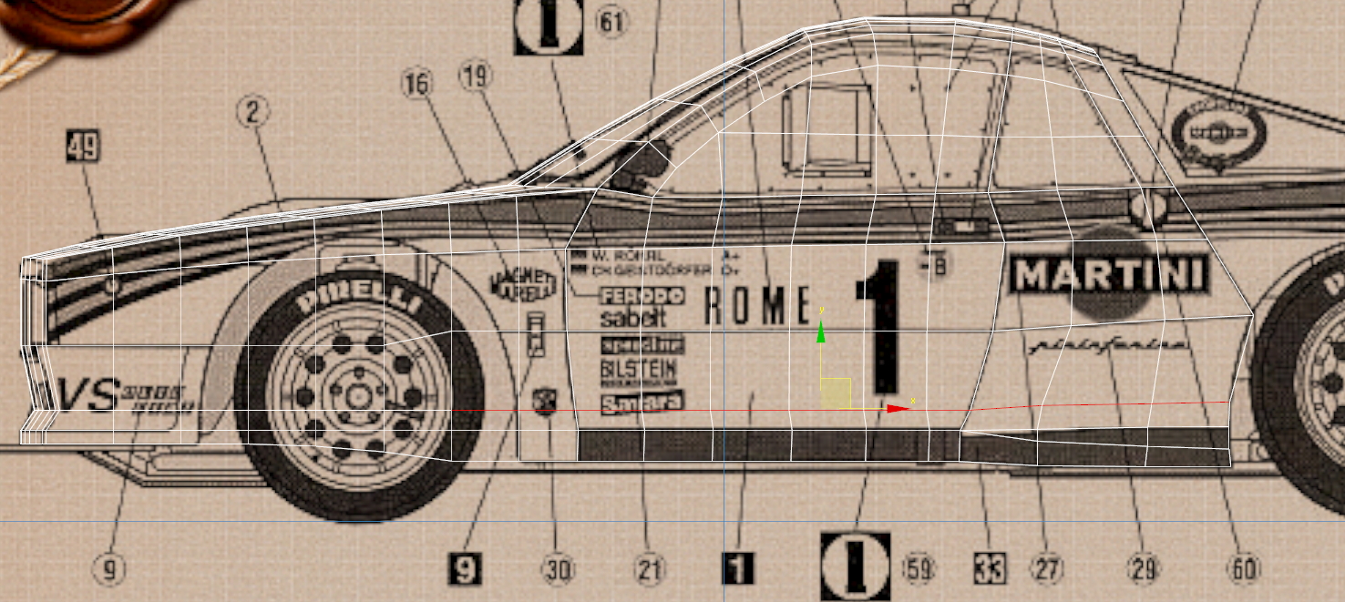 Lancia Rally Car 3d modeling tutorial 44