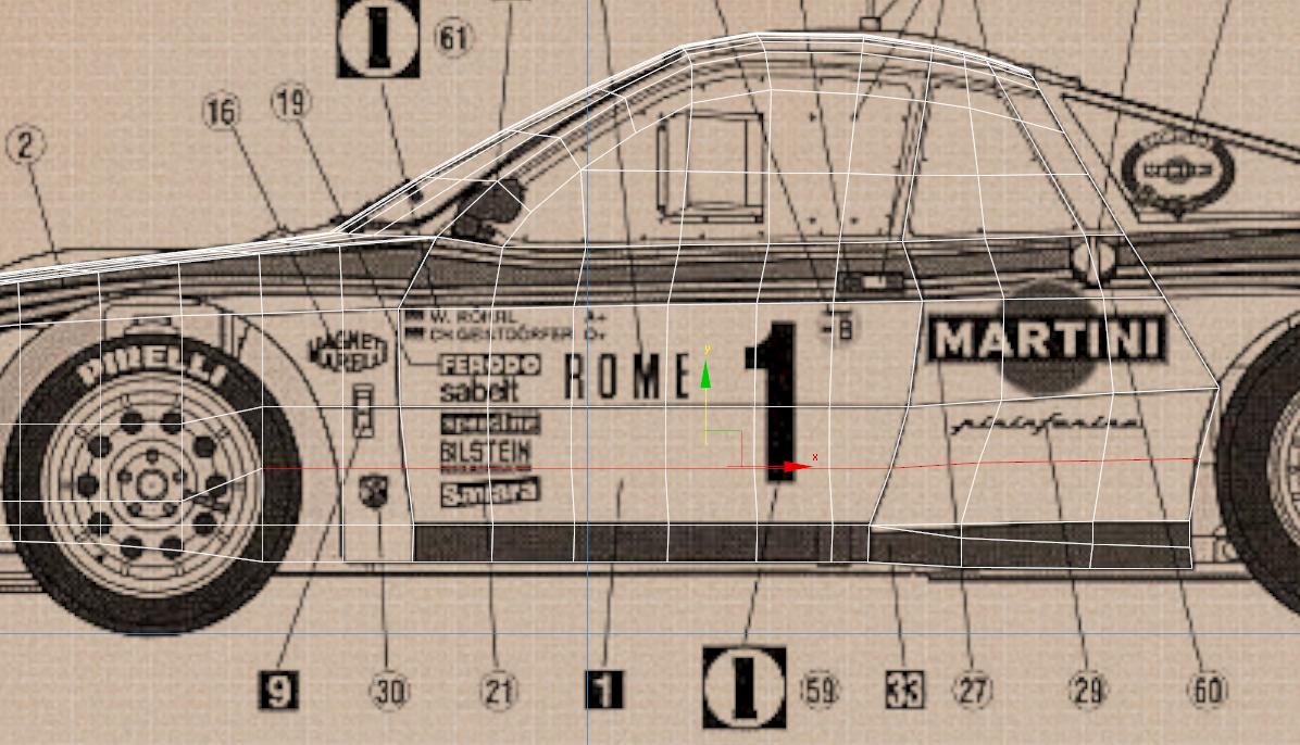 Lancia Rally Car 3d modeling tutorial 45