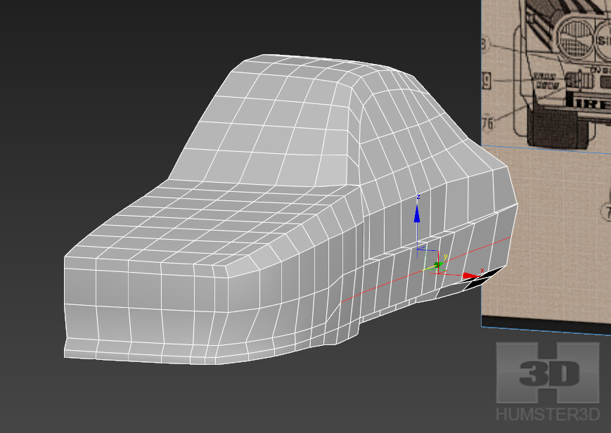 Lancia Rally Car 3d modeling tutorial 46