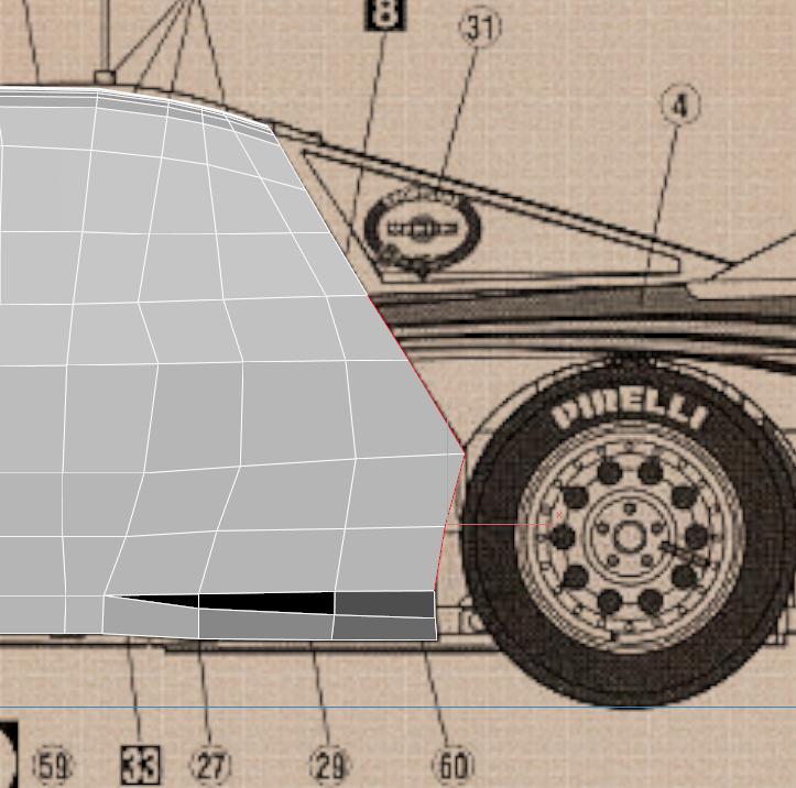 Lancia Rally Car 3d modeling tutorial 47