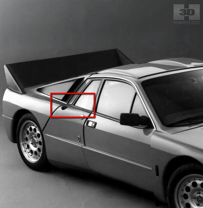 Lancia Rally Car 3d modeling tutorial 49