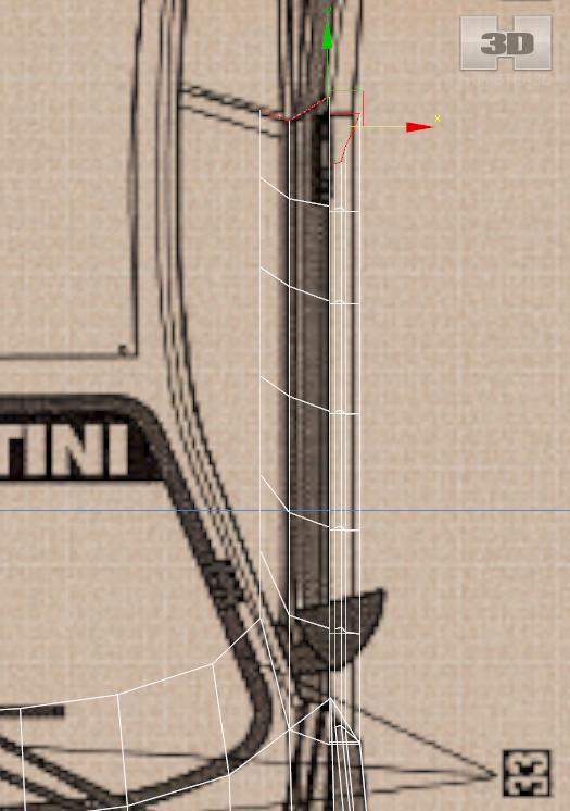 Lancia Rally Car 3d modeling tutorial 5